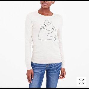 J. Crew Hugging Polar Bear Lightweight Sweater